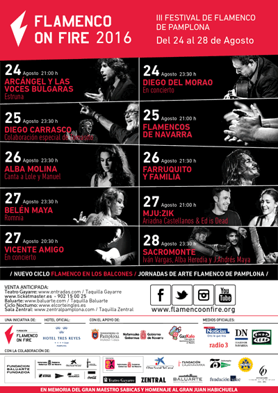 Cartel Flamenco on fire 2016