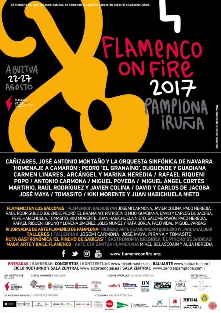 Cartel Flamenco on Fire 2017