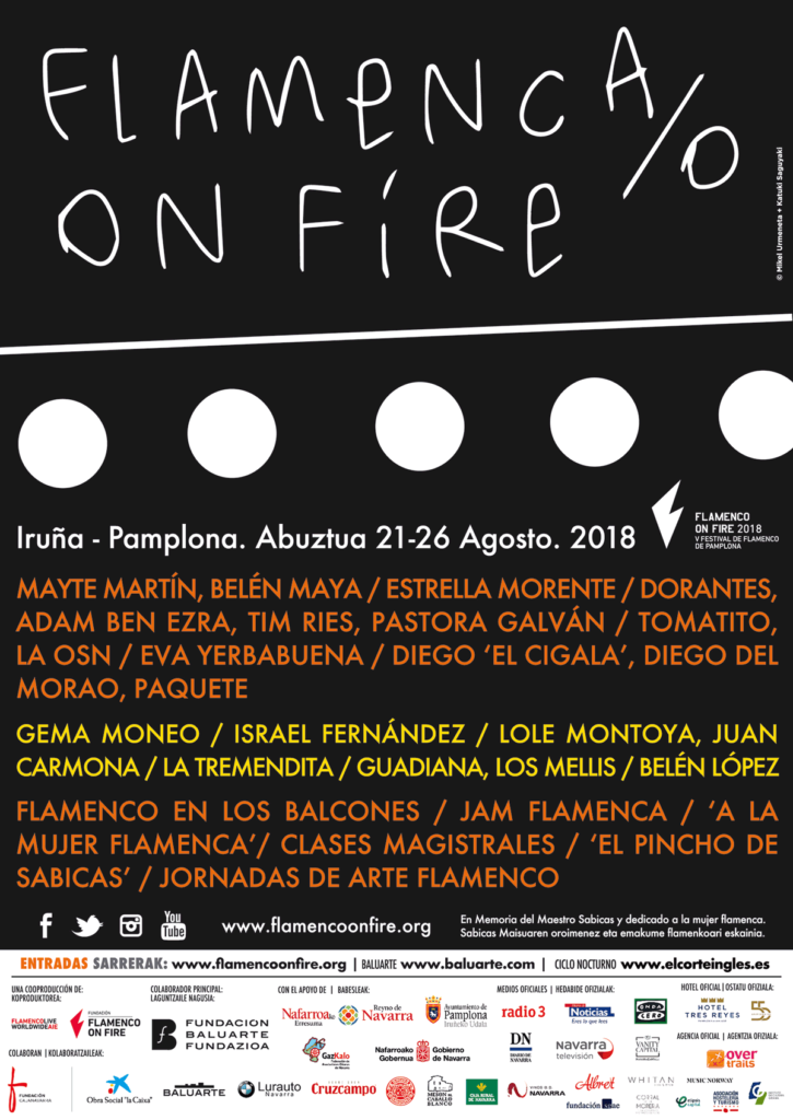 Cartel Flamenco on Fire 2018